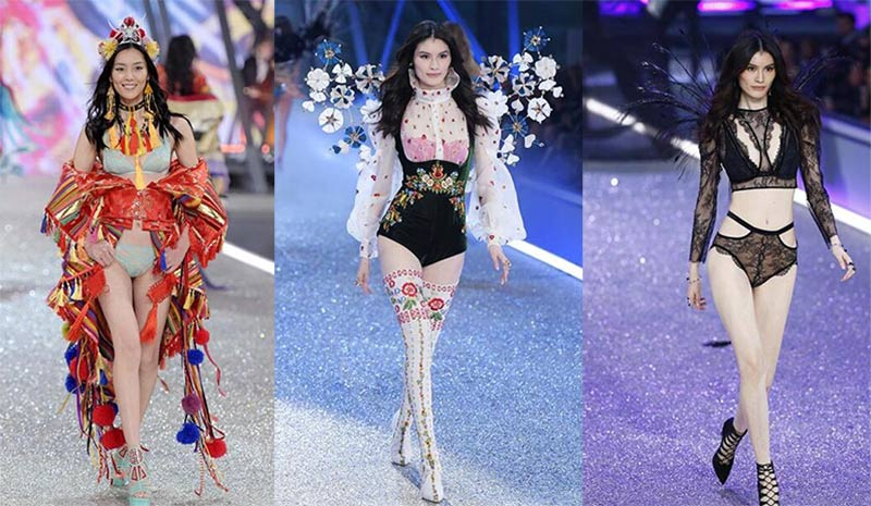 Modelos chinas desfilan en 
